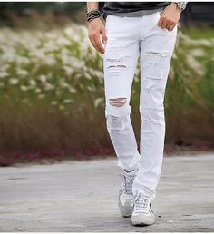 e0011901ef89 Mid-Rise ripped distressed skinny biker jeans with soft and high quality  denim