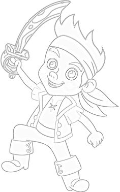 Jake And The Neverland Pirates Coloring Pages  Score!