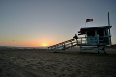 Los Angeles Usa, Lifeguard, Santa Monica, Photos, Celestial, Sunset, Poster, Outdoor, Sunsets