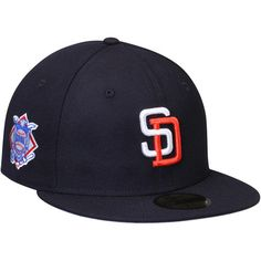 San Diego Padres New Era Cooperstown Collection Wool Standard 2 59FIFTY Fitted Hat - Navy
