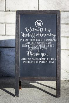 Hey, I found this really awesome Etsy listing at https://www.etsy.com/listing/385564250/unplugged-wedding-decal-wedding-vinyl