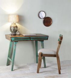 Wooden Study Table, Study Table And Chair, Table And Chairs, Dining Table, Simple Furniture, Rustic Furniture, Study Table Designs, Bed Designs, Chair Design Wooden