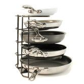 Found it at Wayfair - Brushed Steel Wire Pan Organizer and Storage Unit