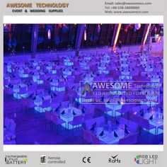 led big cube table for events and wedding