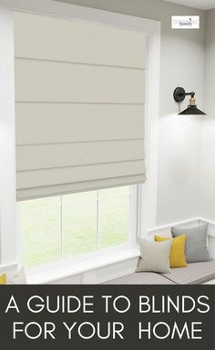Confused about blinds? This quick guide to the different types of blinds available will help you find the best blinds for your home. #interiors #growingfamily Types Of Blinds, Best Blinds, Living Room Inspiration, Kitchen Inspiration, Interior Inspiration, Classic Blinds, Day Night Blinds, Blinds For You, Blinds Design