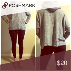 Grey sweater Excellent condition. Hood has a cozy fur inside lining 🍂👢 Sweaters