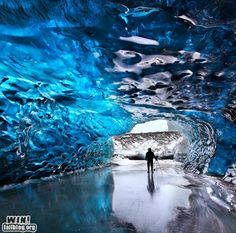 Blue Ice Cave, Iceland - I hate cold, but I would endure if I could see something like this!