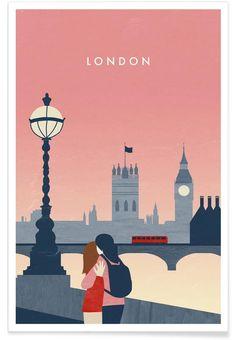 Marrakesch by Katinka Reinke as Poster Illustration Parisienne, Editorial Illustration, London Illustration, Travel Illustration, Deco London, London Art, London Food, London Street, Vintage London