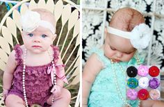 Interchangeable Nylon Headband and Flower Clip 45% off at Groopdealz