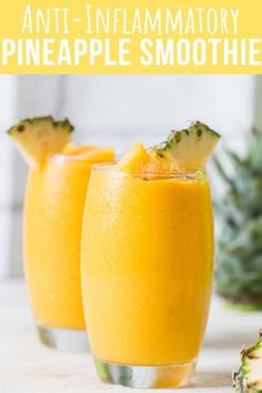 Fruit Smoothie Recipes, Healthy Smoothies, Healthy Drinks, Healthy Eating, Smoothie Diet Plans, Smoothie Challenge, Margarita Recipes, Weight Loss Smoothies, Anti Inflamatory Smoothie