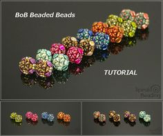 Beads of Bohemia Beaded Beads - Tutorial for small beaded beads PDF beading pattern will be sent by e-mail 24-48 hours after receiving the