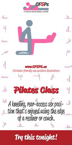Pilates Class is a kneeling, rear-access sex position that's enjoyed using the edge of a recliner or couch. Try it tonight! How To Give Oral, Christian Couples, Foreplay, Couple Quotes, Healthy Relationships, Pilates, Marriage, Recliner, Positivity