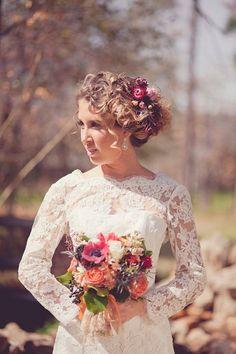 vintage bride pretty pop of color