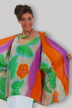 Tunic Separate Hand Painted-Mix Color.  Each one is hand painted by our Artisans.  #generousfashions
