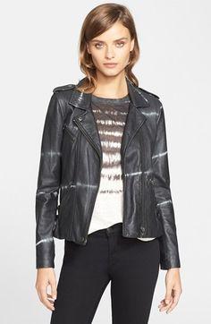 Rebecca Taylor Shibori Moto Leather Jacket available at #Nordstrom