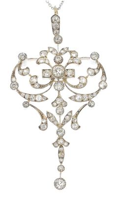 Awesome antique diamond pendants uk diamond pendant pinterest an early 20th century 9ct gold and silver diamond pendant of openwork design the graduated old cut diamond scrolling panel to the similarly cut diamond aloadofball Image collections