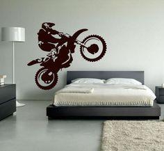 Motocross Wall Decal Dirt Bike Decor Motocross by SignJunkies