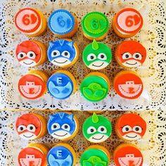 PJ Masks cupcakes #pjmasks #disneyjunior #cupcake #cupcakes #cupcakedesign #kidsbirthday