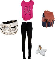 """""""perfect school outfit"""" by maddiewall on Polyvore Teen Fashion 2014, Womens Fashion, Toms Ballet Flats, Toms Outfits, Toms Shoes Outlet, Black Canvas, Discount Shoes, School, Classic"""