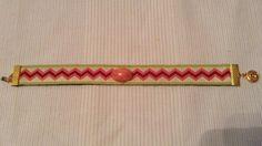 Pink zigzag cuff by BeccasjamsandCrafts on Etsy https://www.etsy.com/listing/230599384/pink-zigzag-cuff