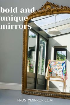 Balerina mirror in the golden frame. Beautiful frameless window style mirror blending in seamlessly with the interior design. Ideal for creating clean, minimalist aesthetic while still giving off a sophisticated look. Acrylic Mirror, Mirror Art, Diy Mirror, How To Make Mirror, Frameless Window, Beautiful Mirrors, Window Styles, Glass Material, Home Hacks
