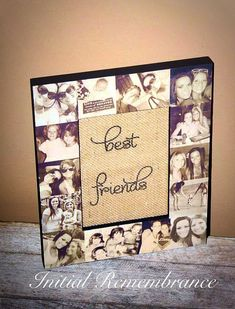 Picture Frame Collage Photo Frame Unique best friend Gift