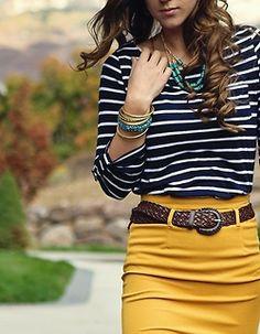 yellow & pinstripe.