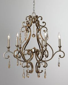 """Distressed Twilight"" Chandelier at Horchow."
