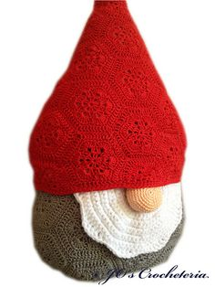 Ravelry: Christmas African Flower Santa Claus - Nisse the gnome pattern by JOs Crocheteria