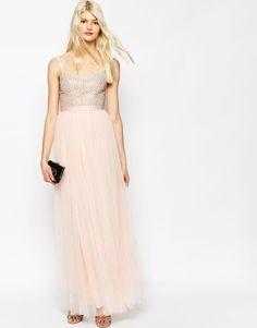 Image 1 ofNeedle & Thread Coppelia Embellished Ballet Tulle Maxi Dress