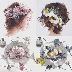 acoさんはInstagramを利用しています:「【splashes】 【majestic】 コームタイプでお作りしたこちらの2点✨ 他のパーツタイプの商品より、 細かい表現で材料数が多いのが特徴 とっても繊細で印象的なヘッドドレスです #ウェディング#wedding#ウェディングヘア#ブライダル…」