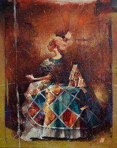 """Waclaw Sporski """"Princess Tarot"""" 100х125 Oil On Canvas sporskiart.com"""