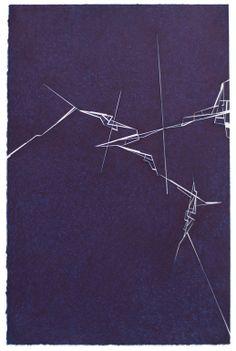 """Derek Lerner; Ink 2013 Drawing """"Fracture 5"""""""
