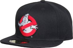 Official Ghostbusters Movie Snapback Cap. Black with the Ghostbusters front logo, and the GHOSTBUSTERS rear title. Adjustable snapback sizing, one size fits mos