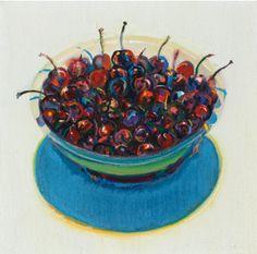 """""""Cherries #2"""" by Wayne Thiebaud (artmarketmonitor.com)"""