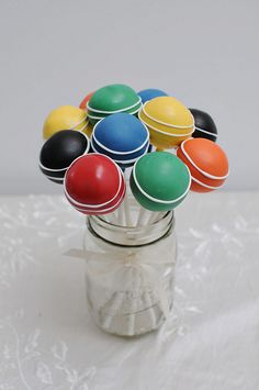 croquet ball pops by Sweet Lauren Cakes, via Flickr