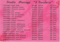 Nel nostro Studio troverete tutto quello che cercate! Professionalità, gentilezza e ottimi massaggi per regalarVi quella coccola che fa la differenza!!! Inoltre a tutti i clienti un omaggio ad ogni trattamento perché VOI per noi siete IMPORTANTI!!!