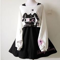 """3,523 Likes, 51 Comments - Japanese Korean Fashion Shop (@officialsyndromestore) on Instagram: """"New   Yes or No?  Japanese Harajuku Lolita Bunny Top Dress Set SD00740  Check out our store For…"""""""