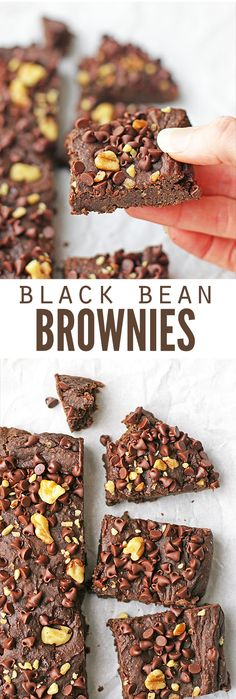 Oh my goodness, these black bean brownies taste just like those Little Debbie snacck fudge brownies I had when I was a kid! I love that these have no sugar, are packed with nutrition and passed the taste test of SEVEN people who couldn't even guess they h Healthy Treats, Healthy Desserts, Mini Desserts, No Sugar Desserts, Gourmet Recipes, Real Food Recipes, Dessert Recipes, Bread Recipes, Diet Recipes