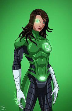 Green Lantern [Jessica Cruz] commission by phil-cho on DeviantArt Marvel Art, Marvel Dc Comics, Jessica Cruz Green Lantern, Comic Character, Character Design, Green Lantern Corps, Green Lanterns, Hq Dc, Dc Comics Characters