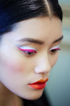 Beauty Alert! Dior Fall Haute Couture 2012 Makeup Looks. They are going for a futuristic icy look.