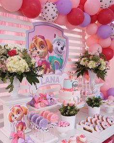 Paw Patrol Birthday Party for Girls - Parties That Sparkle-Tinselbox - Paw Patrol Birthday Party for Girls You have to see this amazing party by M & J Kreations. It has loads of inspiration for a Paw Patrol party, especially for the birthday girls! Girl Paw Patrol Party, Paw Patrol Birthday Girl, Girls Paw Patrol Cake, Paw Patrol Cupcakes, 4th Birthday Parties, Happy Birthday, Frozen Birthday, Girl Birthday Party Themes, 3rd Birthday Party For Girls