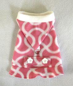 Pink Squiggles Fleece Coat