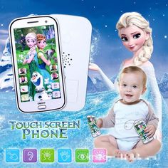 New Children Mobile Phone Toys Snow Queen Princess Elsa Anna with Sound Smart Electronic Cellphone Early Education Infant Snow Queen, Baby Toys, Kids Toys, Anna Et Elsa, Musical Toys, Samsung Mobile, Light Music, Electronic Toys, Puzzles For Kids