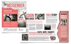 Bible Church Newsletter Template Design by StockLayouts