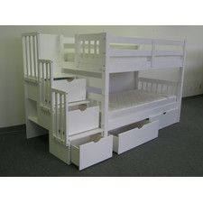 Twin Over Twin Bunk Bed with Drawer