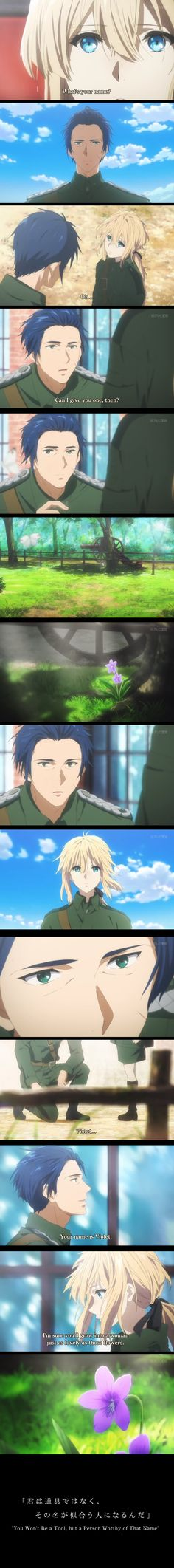 """gave Violet her name // Episode 4 // I really love all anime characters named, """"Gilbert"""" // Violet Evergarden // Violet x Gilbert All Anime, Anime Love, Manga Anime, Anime Character Names, Violet Evergarden Wallpaper, Violet Evergreen, Violet Evergarden Anime, A Silent Voice, Image Fun"""