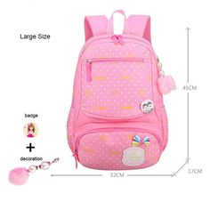 9513818112 GCWHFL 2017 New Lovely Princess School Bags For Girls Dot Fashion Knapsack  Primary School Backpacks Children Satchel Kids Bolsas