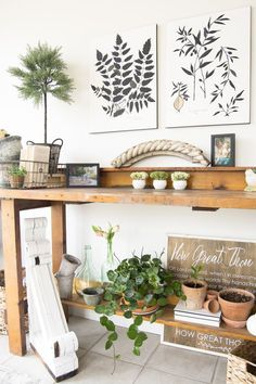 Have you ever needed to carve an office into another space? Today I'm sharing how I made a sunroom office into a dual purpose paradise. A little sun and nature mixed with a little work and modern convenience. Head to the blog for all the details www.grace