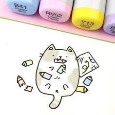 250 vind-ik-leuks, 7 reacties - ⭐️KiraKiraDoodles (@kirakiradoodles) op Instagram: 'Bad kitty! ✏️ • • • #kawaii #kitty #doodle #sketchbook #catdoodle #copicmarkers #copicsketch…'